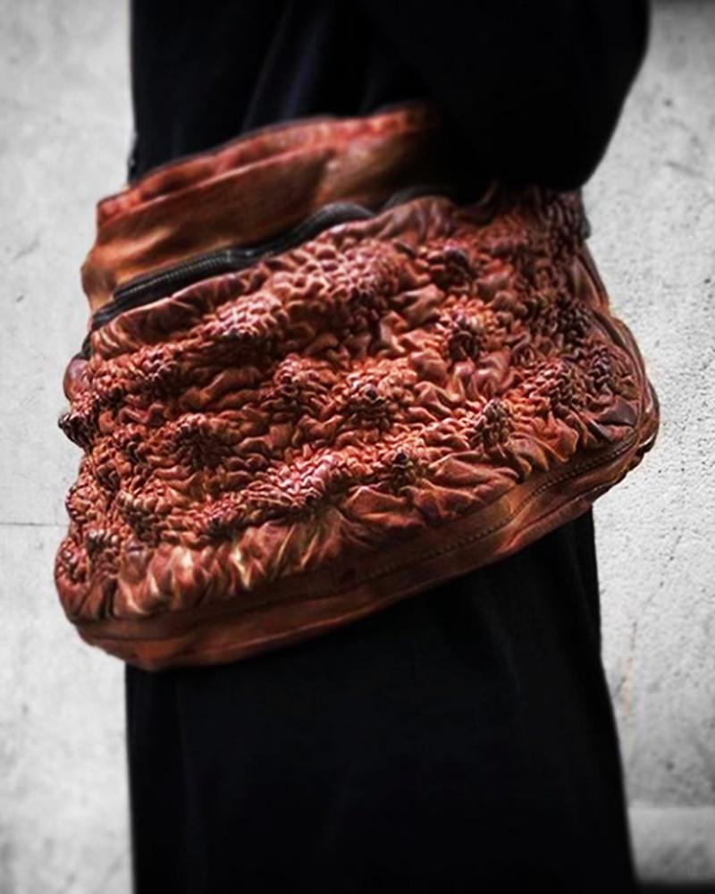 Numero 10 - Embossed leather bag