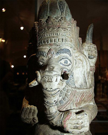 Inde - Statue de Ganesh en bois