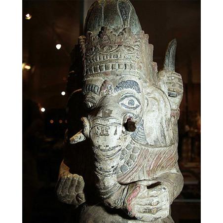 India - Ganesha wooden Statue