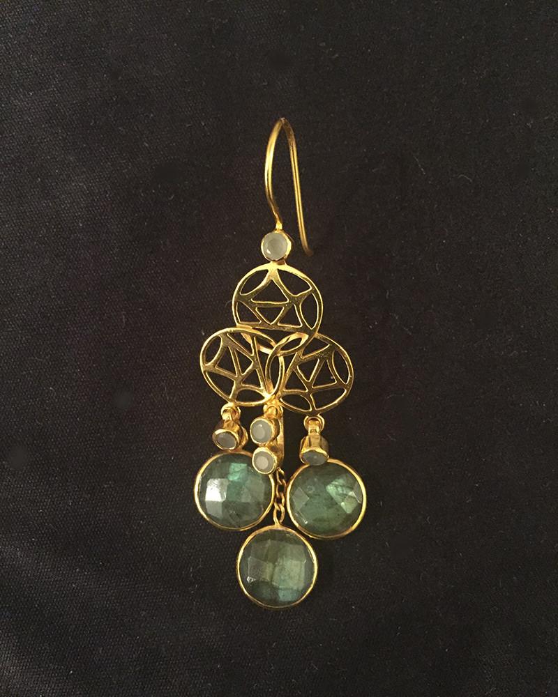 labradorite earring