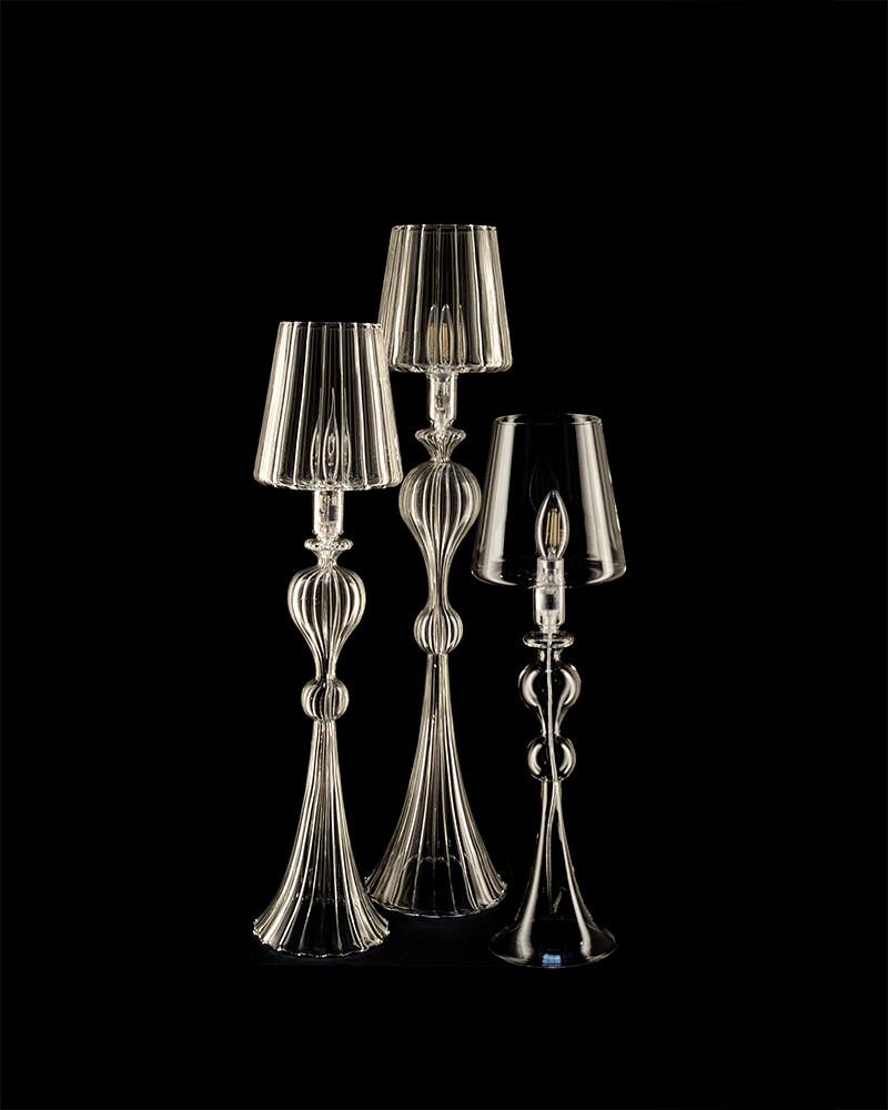 Les Héritiers - Lampe Rouen en verre soufflé