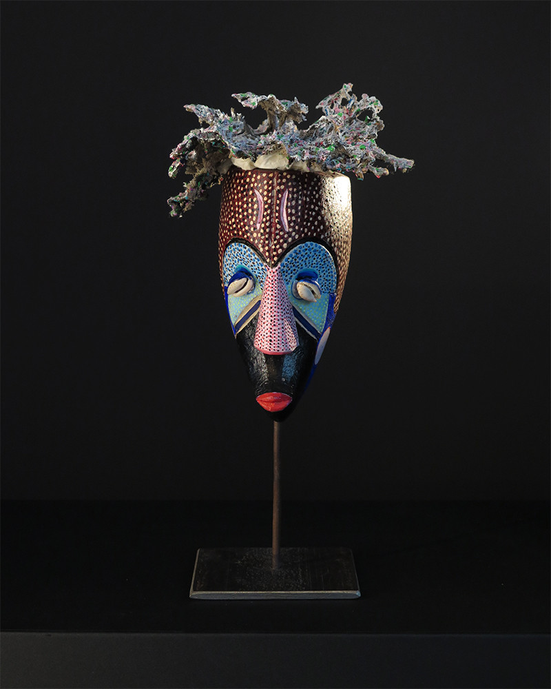 Michel Loeb Masque Africain Peint