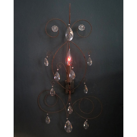 Wall lamp with crystal beads vox populi