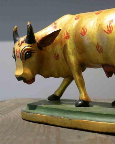 Inde - Statue vache sacrée debout