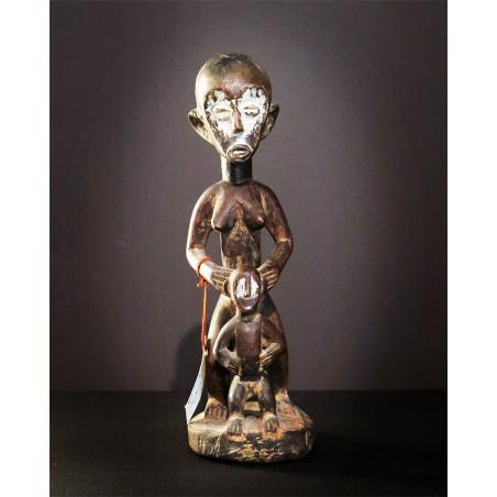 Afrique - Statue mère et fils