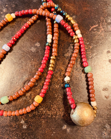 Catherine Michiels - Sautoir Perles africaines