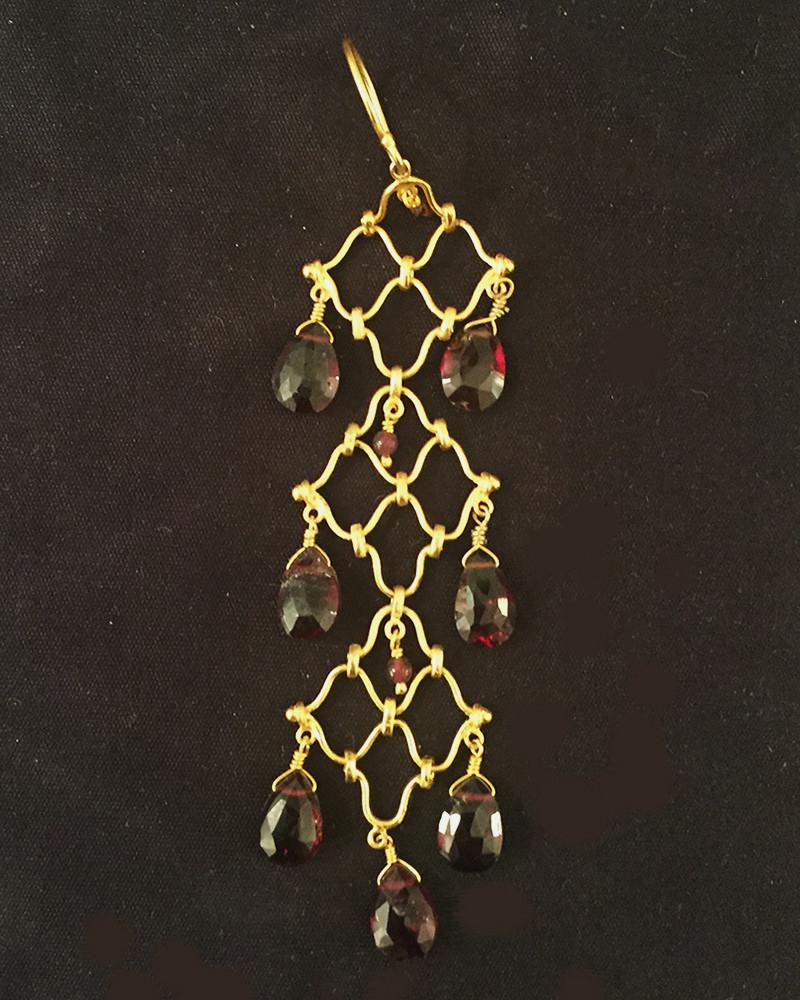 India - Garnet earing
