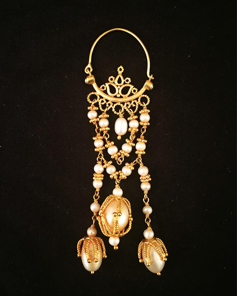 Inde - Boucles oreilles perles