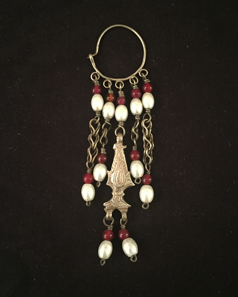 India - silver earrings