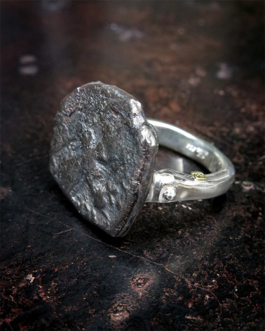 Rosa Maria - Hammered Silver ring