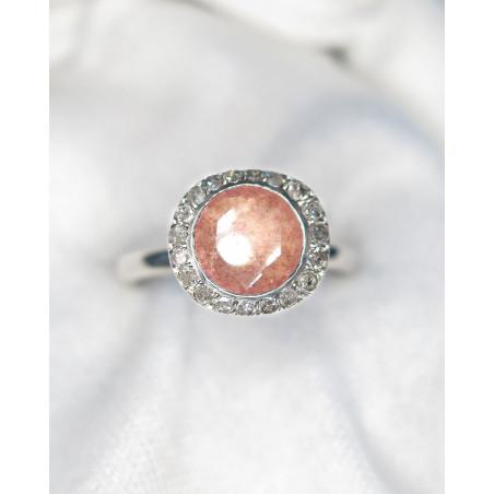 Rosa Maria - Diamants et Strawberry Quartz