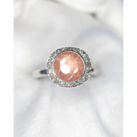 Rosa Maria - Diamonds et Strawberry Quartz