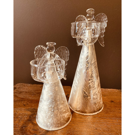 Christmas - Frosted Glass Angel Tealight