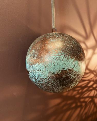 Christmas Baubles - oxidized copper