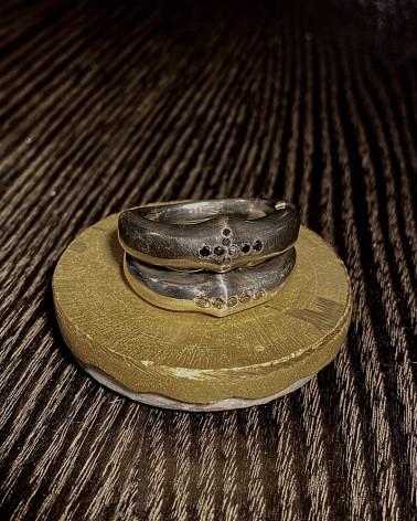 Rosa Maria - Large anneau avec Diamants