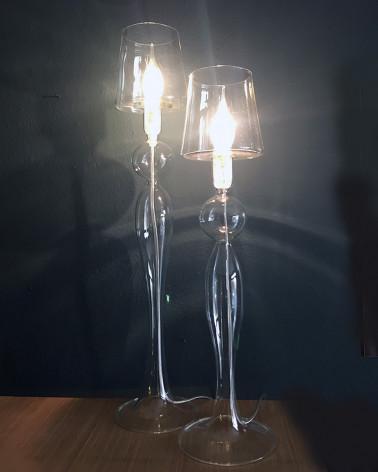les héritiers blown glass lamp