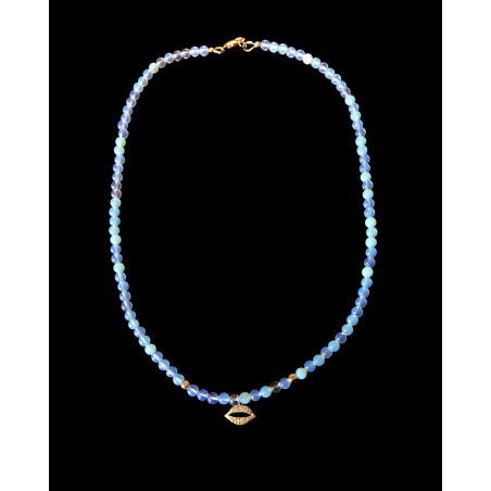 Catherine Michiels - Golden Smile and Opales Necklace