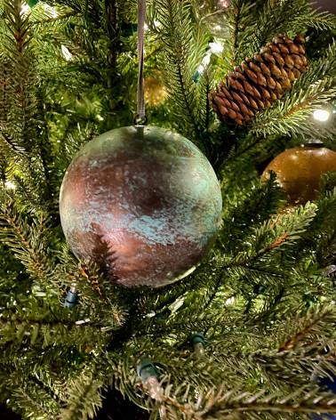 Boules de Noël 2020, cuivre oxydé