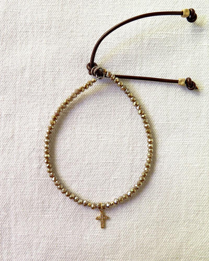 Catherine Michiels - Croix diamants sur verre de Bohème