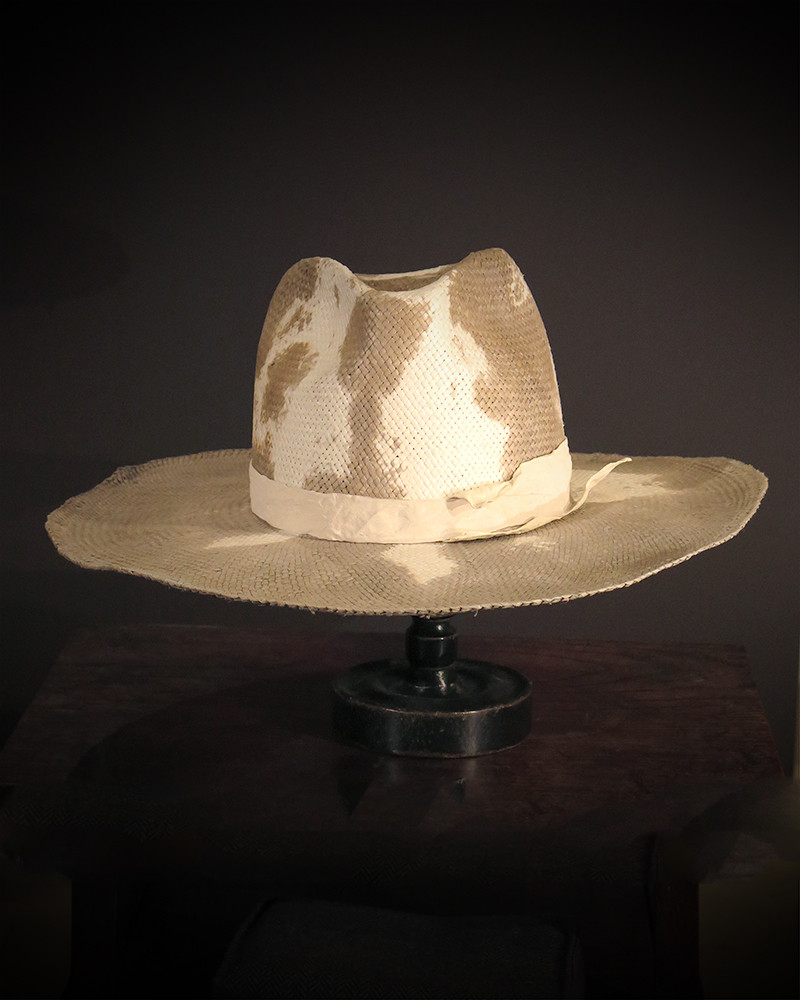 Move - Straw hat with prints