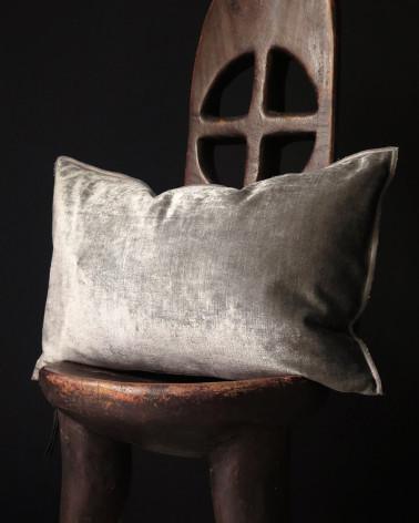 Maison de Vacances - Anthracite royal velvet cushions