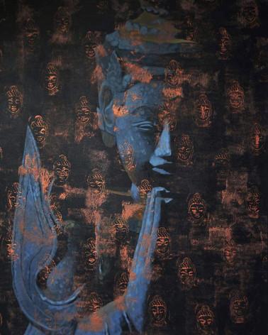Khin Zaw Latt - Buddha Bleu