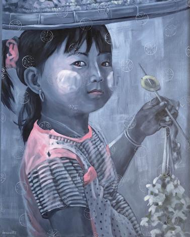 Khin Zaw Latt - Marchande de fleurs