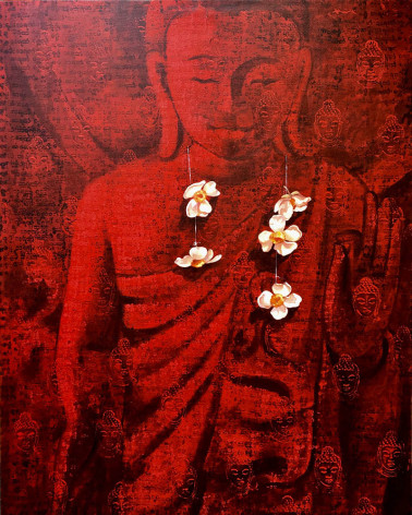 Khin Zaw Latt - Offering Flowers