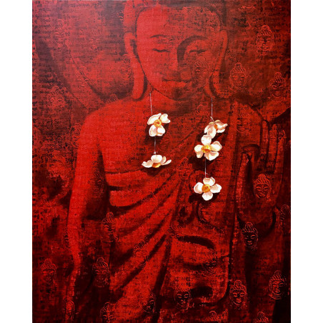 Khin Zaw Latt - Offering Flowers