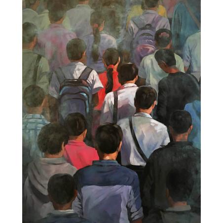 Khin Zaw Latt - People in Fog
