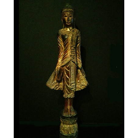Burma - Red Lacquer Buddha