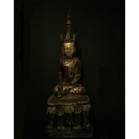 Burma - Buddha sitting on elephant