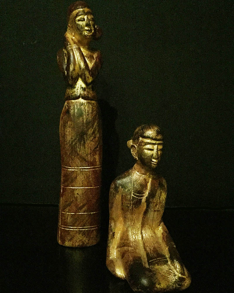 Birmanie - Statue jeune femme
