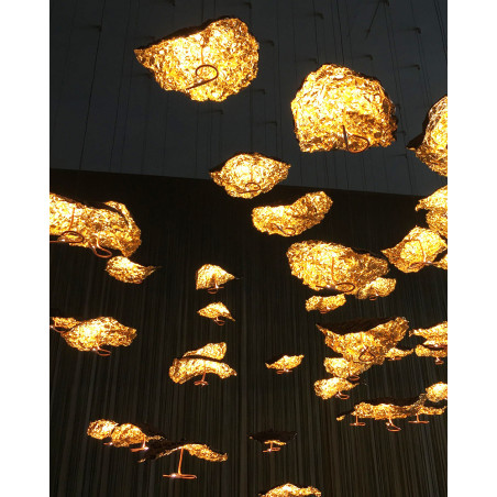 Catellani & Smith - Gold Moon Chandelier