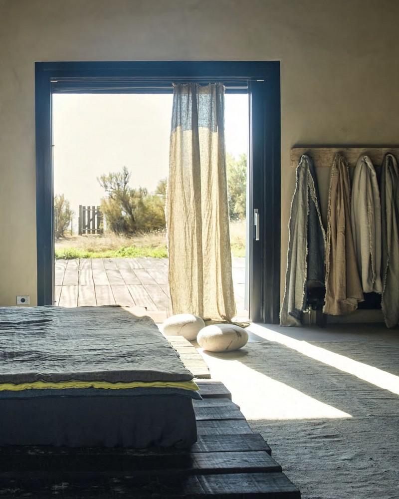 plaid en lin. Black Bedroom Furniture Sets. Home Design Ideas