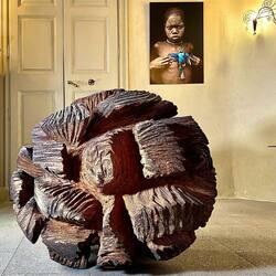 #exposition #jaimelesarbres #marcnucera #retourdevoyage #sculpture #arbre #art #artiste #galeriedart #lislesurlasorgue #respiration #nature #sculpturemonumentale